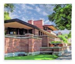 Frank Lloyd Wright Robie House Fleece Blanket