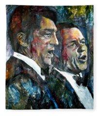 Frank Sinatra And Dean Martin Fleece Blanket