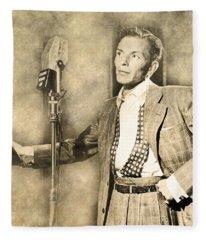 Frank Sinatra Crooner Fleece Blanket
