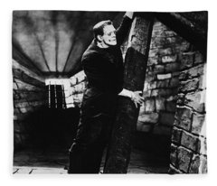 Frankenstein Boris Karloff Classic Film Image  Fleece Blanket