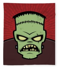 Frankenstein Monster Fleece Blanket