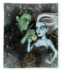 Frankenstien Fantasy Art Fleece Blanket