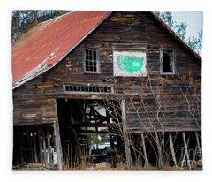 Franklin County Sign Fleece Blanket