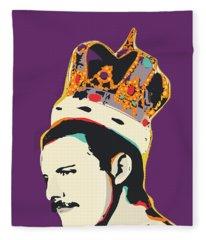 Freddie Mercury Pop Art Quote Fleece Blanket