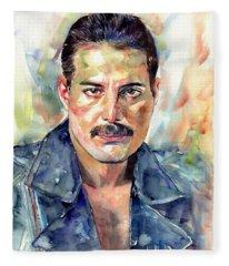 Freddie Mercury Portrait Fleece Blanket