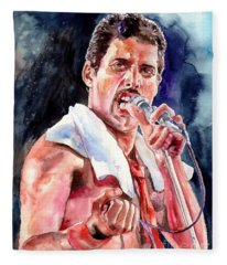 Freddie Mercury Singing Fleece Blanket