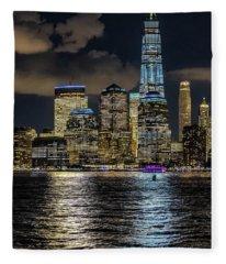 Fredoom Tower Nyc Fleece Blanket