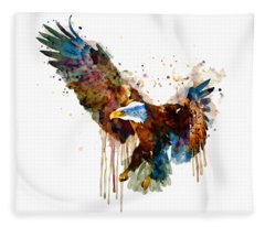 Free And Deadly Eagle Fleece Blanket