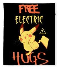 Free Electric Hugs Fleece Blanket