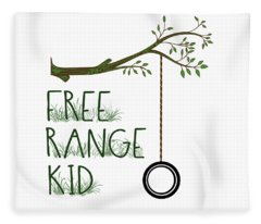 Free Range Kid Fleece Blanket