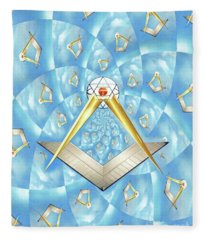 Freemason Symbolism Fleece Blanket
