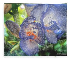 Freesia's In Bloom Fleece Blanket