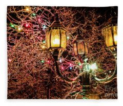 Christmas Lamp Fleece Blanket