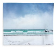 Freezing Storm Fleece Blanket