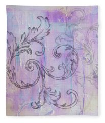 Fleece Blanket featuring the painting French Country Scroll by Jocelyn Friis