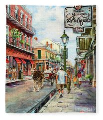 French Quarter Antiques Fleece Blanket