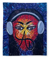 Frequencial - Abstract Art Music Painting - Ai P.nilson Fleece Blanket