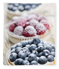 Fresh Berry Tarts Fleece Blanket