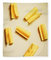 Fresh Butter Curls On Table Fleece Blanket