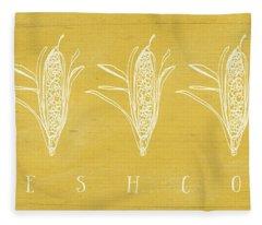 Fresh Corn- Art By Linda Woods Fleece Blanket