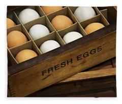 Fresh Eggs Fleece Blanket