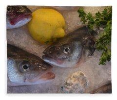 Fresh Fish Fleece Blanket