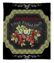 Fresh Fruit Trio--jp3758 Fleece Blanket