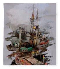 Fresh Live Crab Fleece Blanket