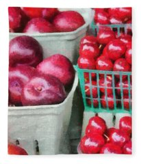 Fresh Market Fruit Fleece Blanket