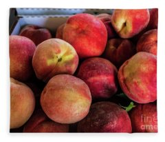 Fresh Peaches Fleece Blanket