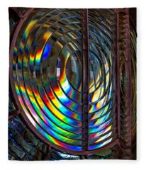 Fresnel Lens Point Arena Lighthouse Fleece Blanket