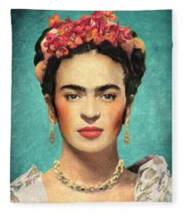 Frida Kahlo Fleece Blanket