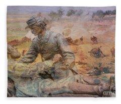 Friend To Friend Monument Gettysburg Battlefield Fleece Blanket