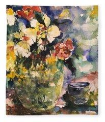 Friendship Flowers Fleece Blanket