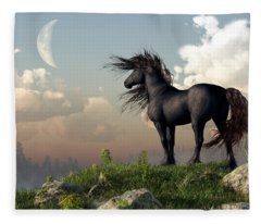 Friesian Moon Fleece Blanket