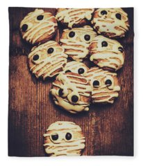Fright Night Party Baking Fleece Blanket
