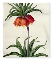 Fritillaria Imperialis Fleece Blanket