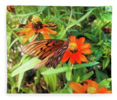 Fritillary Fantasy Fleece Blanket