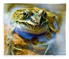 Frog In Pond Fleece Blanket