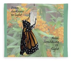 From Darkness To Light Fleece Blanket