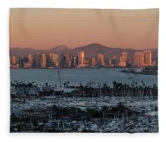 From Here To Downtown Fleece Blanket