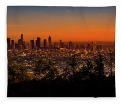From Mount Hollywood To Los Angeles Fleece Blanket