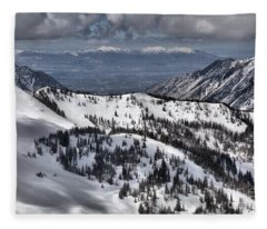 From Snowbird To Salt Lake Fleece Blanket