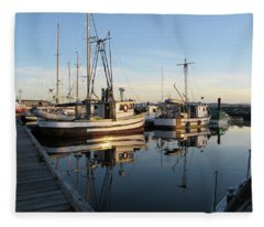 From The Dock At Powell River Fleece Blanket