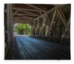 From The Inside Looking Out - Shimanek Bridge Fleece Blanket