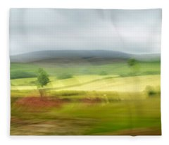 heading north of Yorkshire to Lake District - UK 1 Fleece Blanket