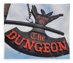 Front Of The Dungeon - New Orleans Fleece Blanket