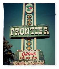 Frontier Hotel Sign, Las Vegas Fleece Blanket
