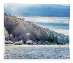 Frost At The Lake Fleece Blanket