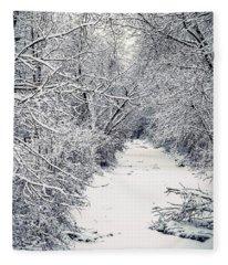 Frosted Feeder Fleece Blanket